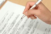 遺産分割協議書への署名シーン